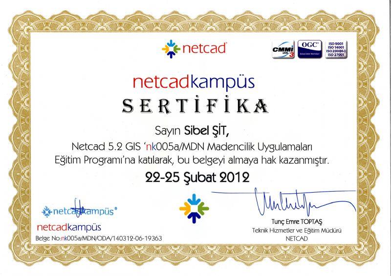 NETCAD SERTİFİKA